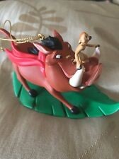 Disney Grolier Presidents Edition Pumbaa Timon Christmas Decoration Ornament