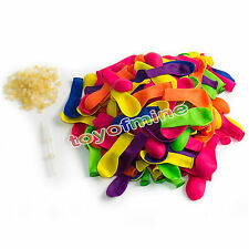 Water Balloons Refill Pack 120 Water Balloons+120 Rubber Bands+2 Refill Useful
