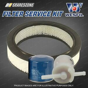 Wesfil Oil Air Fuel Filter Service Kit for Ford Courier PC 4WD 05/87-11/92