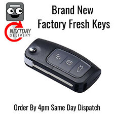 New Ford Focus Mondeo Fiesta 3 Button Programmable Flip Key Fob Remote 433 MHZ