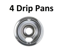 (4) Stove 6 Inch Drip Pan for GE Hotpoint Kenmore WB31T10010 WB32X10015