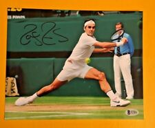 ROGER FEDERER SIGNED 8X10 TENNIS PHOTO BECKETT CERTIFIED POSE 4