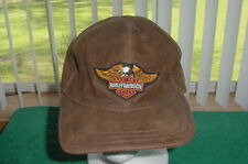 Vintage Harley Davidson MotorCycles Genuine Leather Made n Mexico hat cap buckle