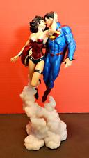 "Superman & Wonder Woman ""The Kiss"" Statue DC Comics Full Size Minor Damage #1"