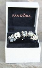 Authentic Pandora LOT OF 5 Charm Beads in a Pandora Hinged Box 925 ALE Retired