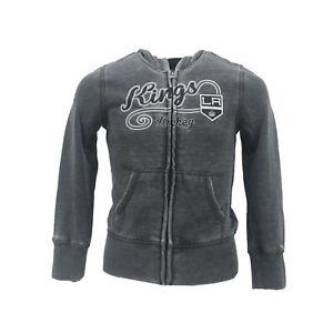 Los Angeles Kings Official NHL Kids Youth Girls Size Full Zip Hooded Sweatshirt