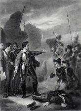 Cromwell sopprimere l'ammutinamento nell'esercito 1876 Robert smirke Antico Incisione