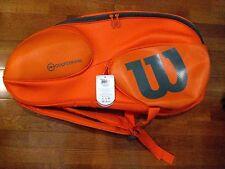 Wilson Vancouver 15 Pack Tennis Racquet Bag -Orange-Gray- Wrz849715 -Brand New!