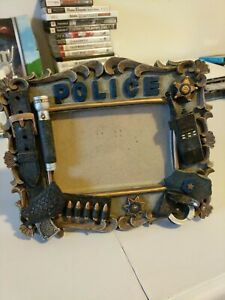 VANMARK Blue Hats of Bravery Police Officer 5x3 1/2 1998 Picture Photo Frame A6