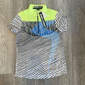 Jamie Sadock Women's Golf Short Sleeve Shirt 1/4 Zip Voltage Size M MEDIUM NEW