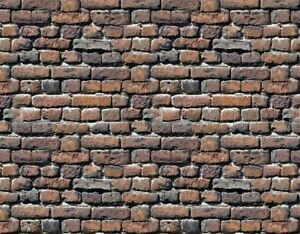16 paper  SHEETS EMBOSSED BUMPY BRICK stone wall 20x28cm SCALE 1/87 HO