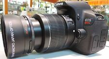 PRO Wide Angle Fisheye Lens for Canon EF 50mm f/1.8 II USA SELLER HD4 52mm