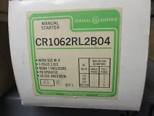 GE CR1062RL2B04, MANUAL STARTER, SIZE M-0, 3 POLE- NEW