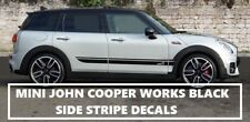 MINI COUNTRYMAN CLUBMAN JOHN COOPER WORKS SIDE STRIPES BLACK DECAL STICKERS