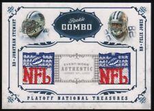 2008 Jonathan Stewart Felix Jones National Treasures NFL Logo Patch 1/3 RC