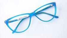 Vintage Glasses Ladies Frames Gaudy Blue Cateye Large Boho Fancy Size M