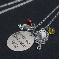 Beauty and the Beast Enchanted Rose Petal Necklace Chain Pendant GIFT NEW
