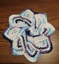 Multi-Color Star Flower Cotton Thick Crocheted Hot Pad Dish Wash Cloth Trivet
