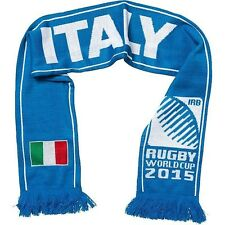 Sportfolio Official Rugby World Cup 2015 Italy Italia Flag Knitted Scarf Blue