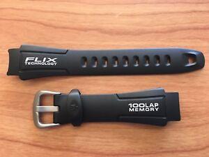 Timex Q7B807 Flix Resin Ironman Triathlon 100 Lap 18mm Replacement Watchband