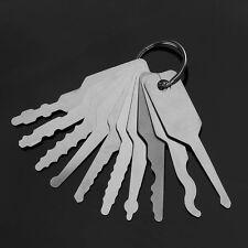 10Pcs Stainless Steel Jiggler Key Car AUTO Lock Keys Picking Opener Repair Tool