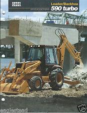 Equipment Brochure - Case - 590 Turbo - Loader Backhoe - 1993  (E2972)