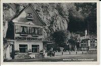 """Ansichtskarte Rübeland / Harz - """"Höhlen-Restaurant"""" - schwarz/weiß"""