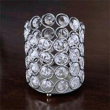 "4"" wide Silver Votive Tealight Crystal Beaded Candle Holders Wedding Party"
