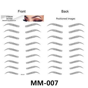 4D Eyebrow Tattoo Sticker Makeup Fake Eyebrows Waterproof Long Lasting Natural