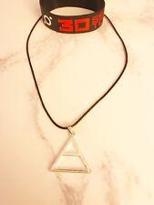 30 Seconds To Mars Triad Necklace Silicone Blue wristband bracelet Echelon UK