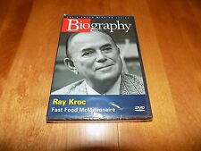 RAY KROC Fast Food McMillionaire McDonald's McDonald Owner BIOGRAPHY A&E DVD NEW