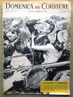 La Domenica del Corriere 1 Dicembre 1963 Assassinio di Kennedy Modugno Atalanta