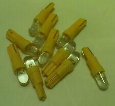 10x Yellow LED Dash Wedge Instrument Panel Light Bulb T5 37 70 73 74 Fits Honda