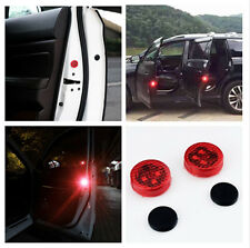 2x Universal Car LED Door Opened Warning Light Wireless anti-collid Flash Light