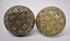 Two Antique Nickle Plated Brass Door Knobs / Hardware