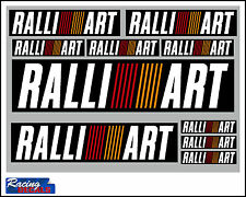 RALLIART x10 Sticker Set Race Motorsport Mitsubushi EVO FTO Decals Ralli Art