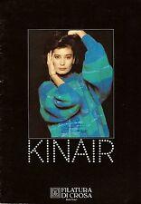 "Filatura Di Crosa Knitting Magazine w/ 11 Patterns ""Kinair"""