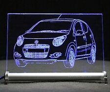 Suzuki Alto  AutoGravur auf LED Leuchtschild Leuchtbild
