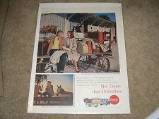 Vintage 1959 Coca Cola Original Soda Ad Coke bar sign print poster beverage art