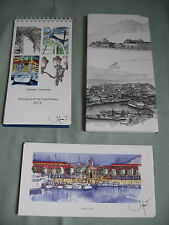 CALENDRIER 2012 THE COLOURS OF THE FRENCH RIVIERA + 4 AQUARELLES / SYLVIE T