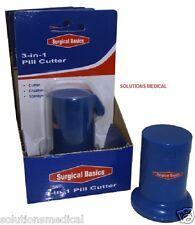 Pill Cutter Anti Slip 3 in 1 Splitter Crusher & Storage