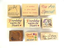 Inkadinkado Wood Rubber Stamps Encouragement Teacher Special Decorative Mounted