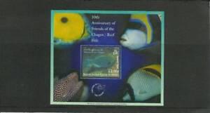 BIOT SGPMS1 10TH ANNIV OF CHAGOS REEF FISH MNH