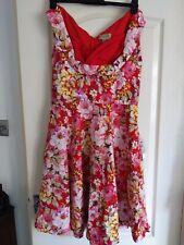 Lindy Bop Floral 50s Swing Dress. Size 16