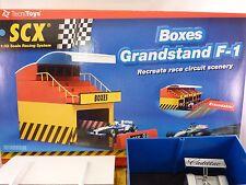 SCX ANAOG #88260, BOXES-GRANDSTAND F-1 1/32 ,EXTENDABLE 1/EA PLUS FREE SCX CAR