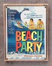 Malibu Beach Party Vintage Movie Poster Surf Surfing Surfboard Framed HomeDecor