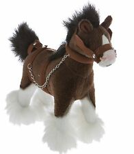 Clydesdale  Horse with Plush Stuffed Soft Toy 20cm/8in Clyde by Bocchetta