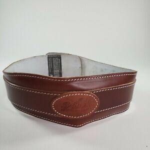 "Schiek Sports Model L2004 Leather 4 3/4"" Contour Weight Lifting Belt Size Medium"