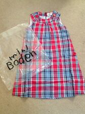 NEW Boden Dress, 4-5y,  - Red Checked Pinafore