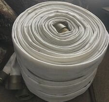 Fire Hose 75' 1 1/2 Inch Brass Couplings 250 PSI   Good Condition